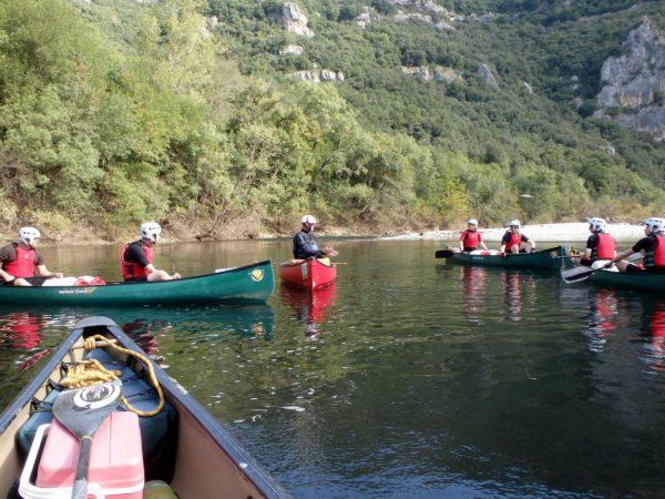 open canoe group