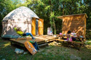Yurt Accommodation - River Package Ardeche